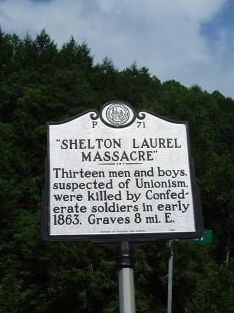 Shelton Laurel Massacre historic marker