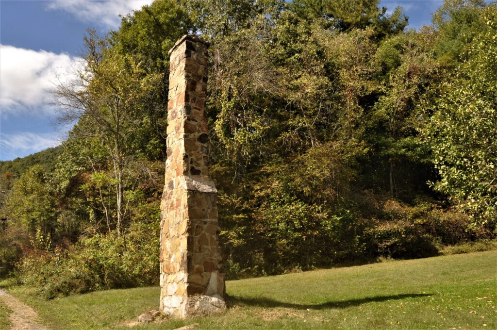 Remnant of a chimney
